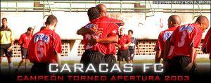 Caracas FC campeón del apertura